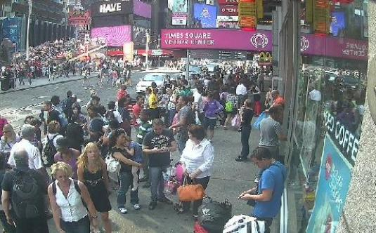 Live new york city times square streaming webcam street view for Camera streaming live