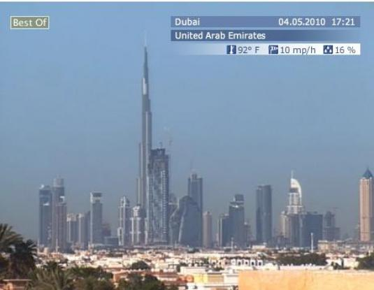 Dubai live streaming video webcam