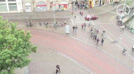 Koningsplein Square live streaming audio webcam