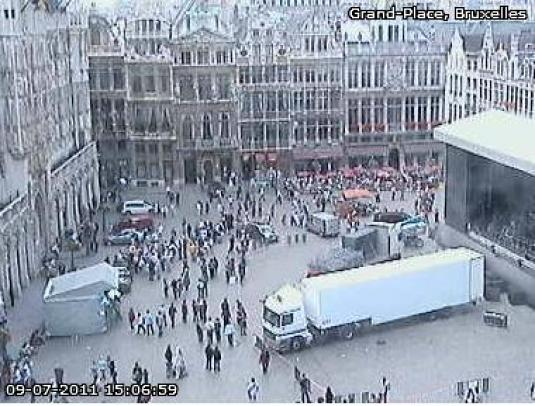 Grand Palace live video streaming camera Brussels
