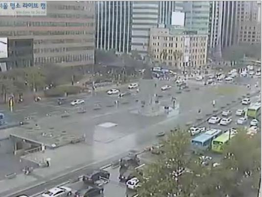 Gwanghwamun Square live streaming downtown webcam Seoul