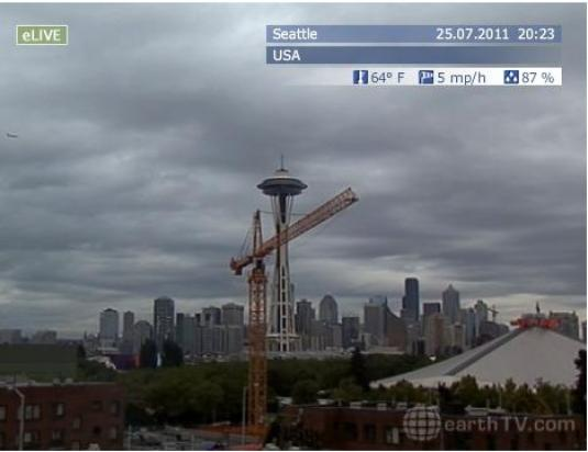 Space Needle Seattle live streaming video HD webcam
