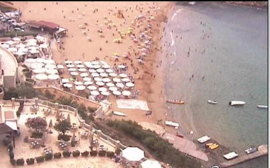 Valletta live beach weather webcam Malta