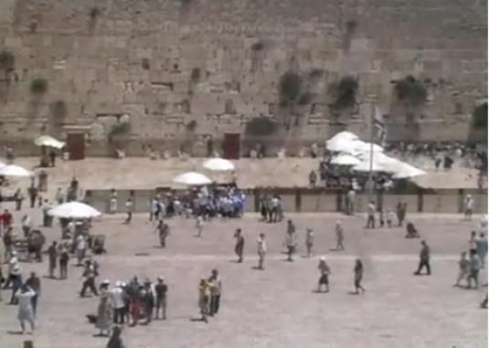 Kotel live streaming Western Wall Plaza webcam