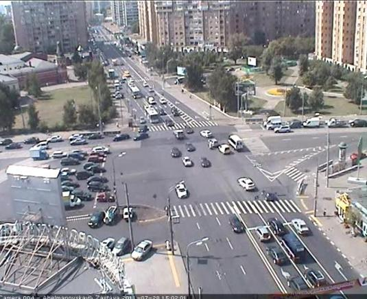 Tagansky District streaming traffic webcam Moscow