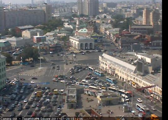 Taganskaya Square live streaming Moscow traffic webcam