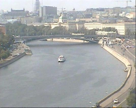Goncharnaya quay Moskva river streaming webcam Moscow