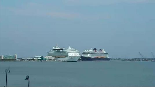 Port Canaveral Cruise Ships streaming webcam