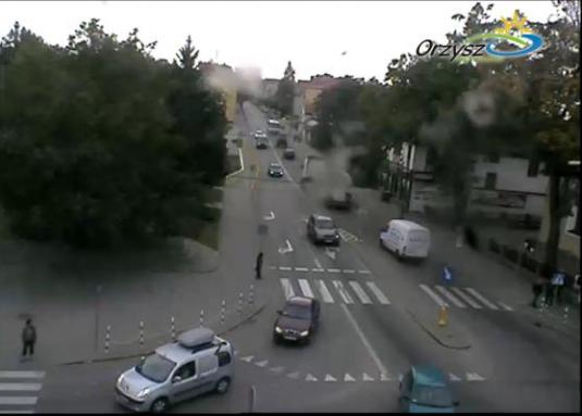 Orzysz Town Centre streaming webcam
