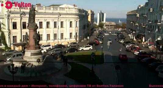 Live Odessa streaming webcam Catherine Square