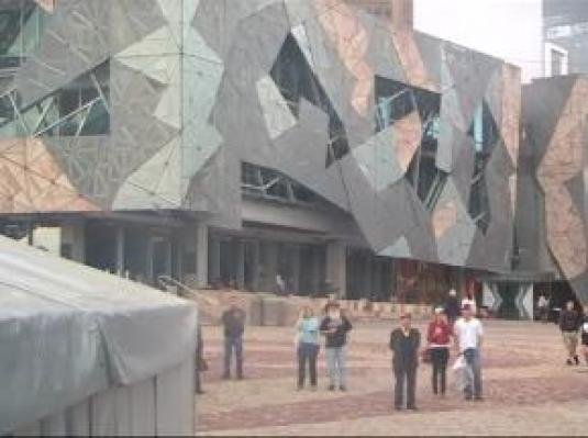 Federation Square streaming webcam Melbourne Australia