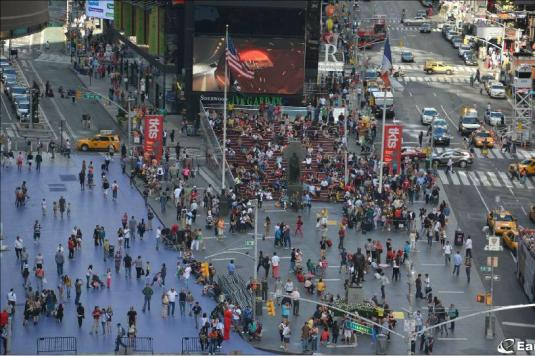 Live Father Duffy Square Times Square HD Webcam New York