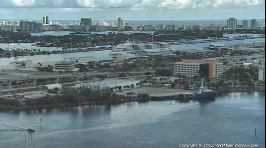 Port of Miami Live Streaming Cruise Ships Webcam in Florida
