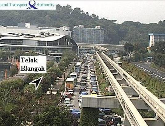 Telok Blangah Traffic Cam Sentosa Gateway Tunnel Singapore