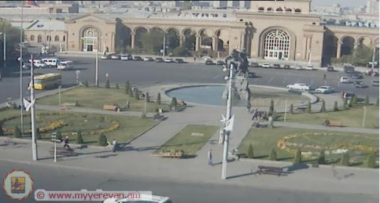 David of Sasoon Square Live Streaming Webcam Yerevan Armenia