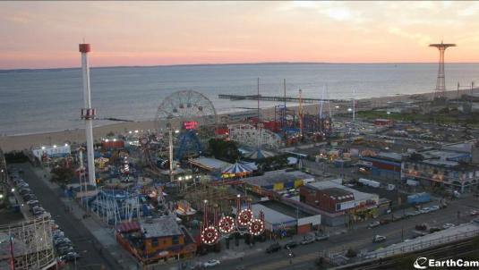Luna Park Coney Island Nights of Horror Halloween Webcam Brooklyn New York