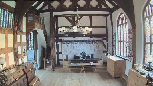 Ordsall Hall Live Ghost Great Hall Halloween Webcam Salford Manchester