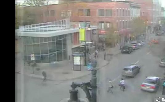 Saint Catherine Street Live Streaming Webcam Downtown Montreal Quebec Canada
