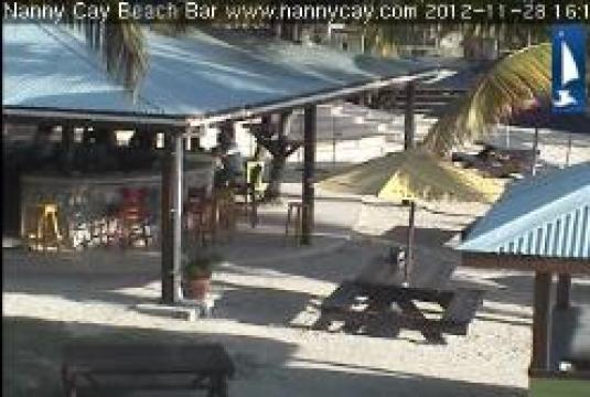 Nanny Cay Beach Bar Streaming Webcam Tortola Island BVI Caribbean