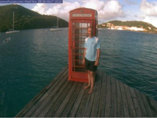 Pussers Marina Cay Red Telephone Box Real Time Cam