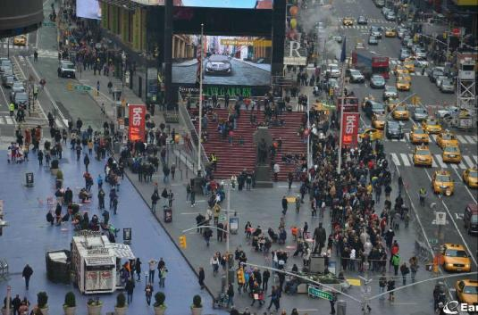 Times Square Live Father Duffy Square Web Cam New York City New York