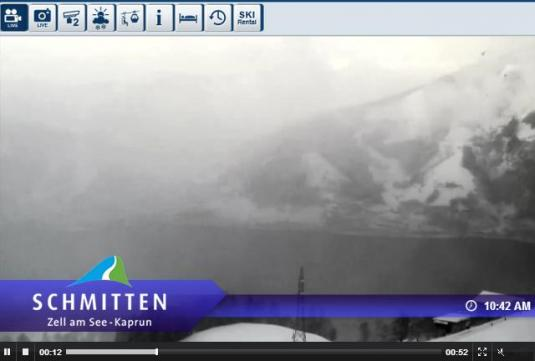 Live Streaming Zell am See Ski Resort Skiing Weather Webcam, Austria