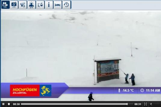 Hochfügen Ski Resort Live Streaming Skiing Weather Webcam, Austria