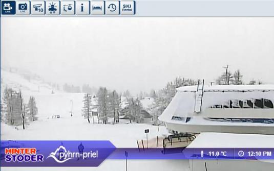 Live Streaming Ski Resort Webcam, Hinterstoder Ski Cam Weather Skiing Webcam, Austria