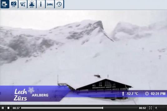 Live Streaming Zürs Ski Resort Skiing Weather Webcam, Austria