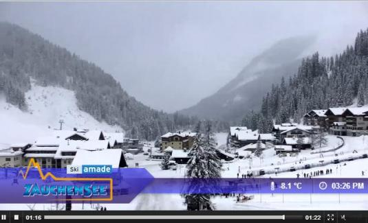 Live Streaming Altenmarkt-Zauchensee Ski Resort Skiing Weather Webcam, Austria