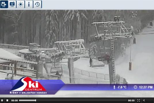 Live Streaming Ricky v Orlick horach Ski Resort Skiing Conditions Weather Webcam, Czech Republic
