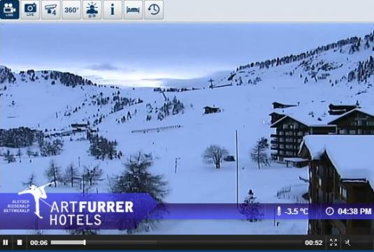 Live Streaming Riederalp Ski Resort Skiing and Snowboarding Real Time Weather Webcams, Switzerland