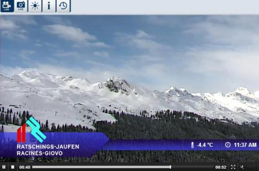 Live Ratschings Ski Resort Skiing and Snowboarding Streaming Weather Webcam, Italy