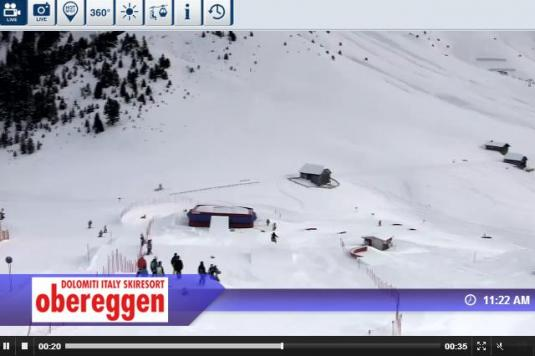 Obereggen Snow Park Live Streaming Skiing and Snowboading Weather Webcam, Italy