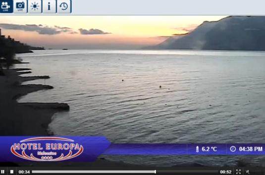 Live Streaming Malcesine Weather Webcam Overlooking Lake Garda, Italy
