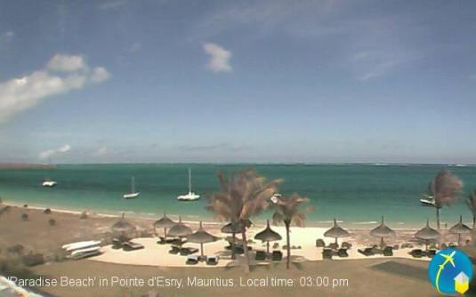 Pointe d'Esny Live Paradise Beach Weather Cam Mauritius
