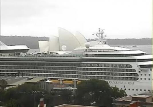 Cruise Ships Live Streaming Webcam Sydney Harbor City Port NSW