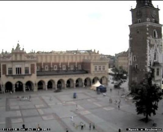 Krakow Old Town Live Streaming Market Square Webcam Krakow Poland