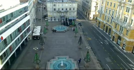 Rijeka City Centre Streaming Webcam Jadranski Square Rijeka Croatia