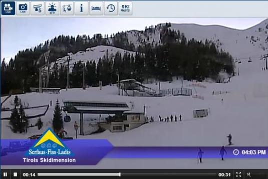 Live Serfaus Fiss Ski Resort Skiing and Snowboarding Streaming Weather Webcam, Austria
