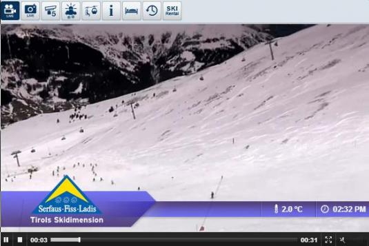 Live Streaming Nordseite Fiss Skiing and Snowboarding Ski Resort Weather Snow Cam, Austria