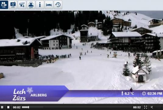 Lech am Arlberg Ski Resort Live Skiing and Snowboarding Weather Webcam, Austria