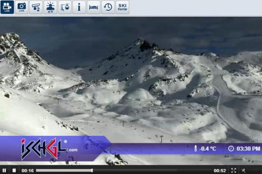 Live Streaming Skiing and Snowboarding Ski Resort Weather Webcam, Ischgl Samnaun, Austria
