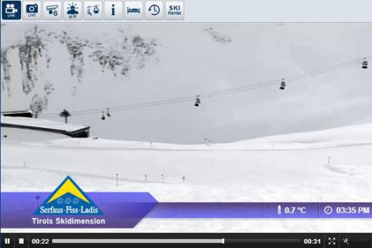 Serfaus Ski Resort Live Streaming Skiing and Snowboarding Weather Conditions Snow Cam, Austria