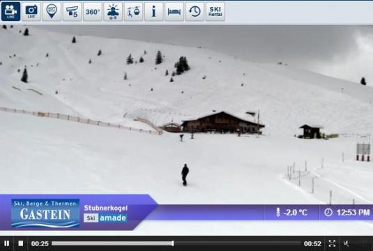 Bad Gastein Ski Resort Live Streaming Skiing and Snowboarding Weather Webcam, Austria