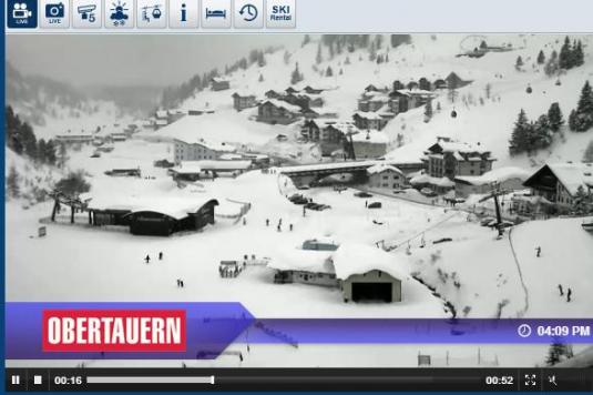 Live Streaming Skiing and Snowboarding Weather Webcam in Obertauern Ski Resort, Austria