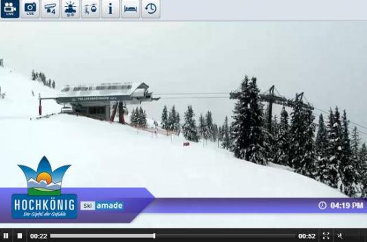 Live Streaming Mühlbach am Hochkönig Ski Resort Skiing and Snowboarding Weather Webcam, Ausrtria