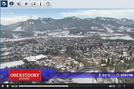 Oberstdorf Schanze Live Streaming Skiing and Snowboarding Weather Webcam, Germany