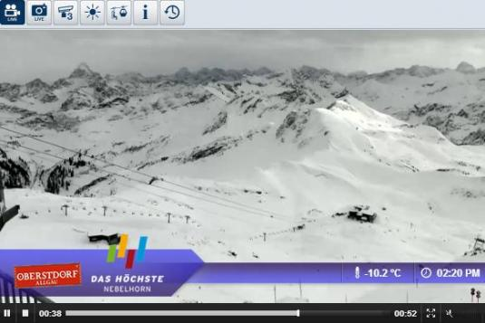 Oberstdorf - Nebelhorn Live Streaming Skiing and Snowboarding Weather Webcam, Germany