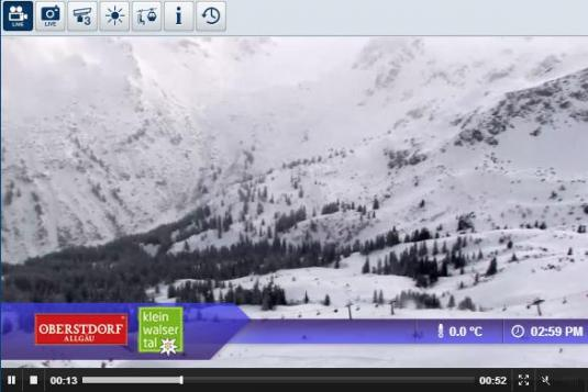 Live Streaming Oberstdorf Fellhorn Ski Resort Skiing and Snowboarding Weather Cam, Germany
